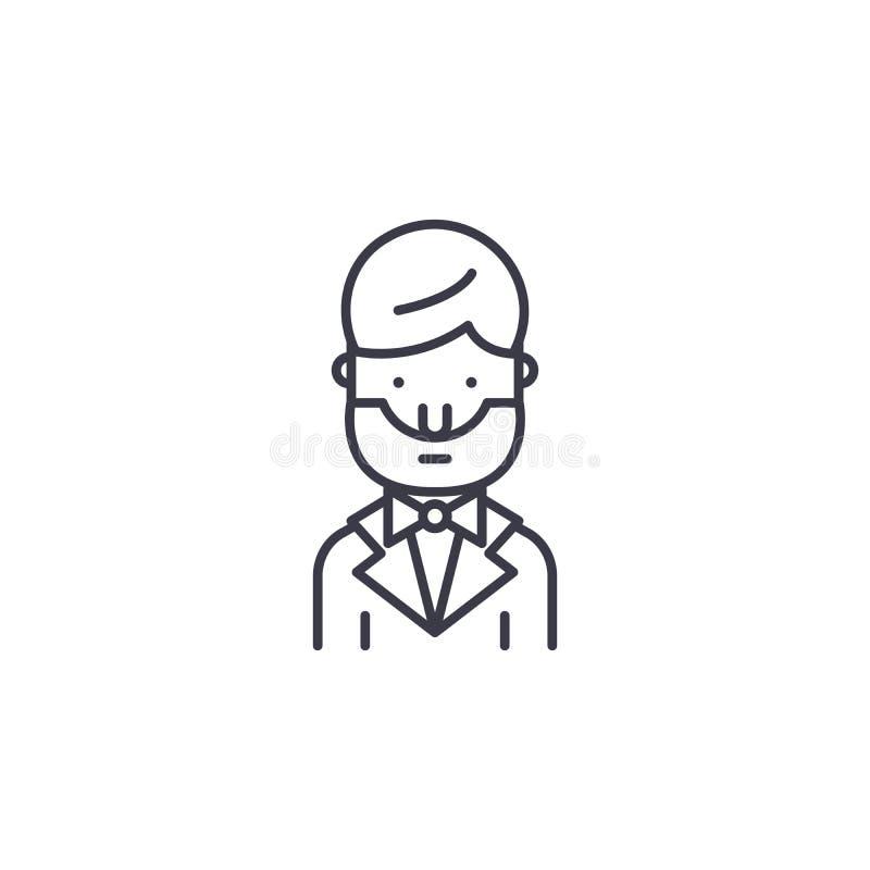 Lineair het pictogramconcept van Abraham Lincoln Abraham Lincoln-lijn vectorteken, symbool, illustratie vector illustratie