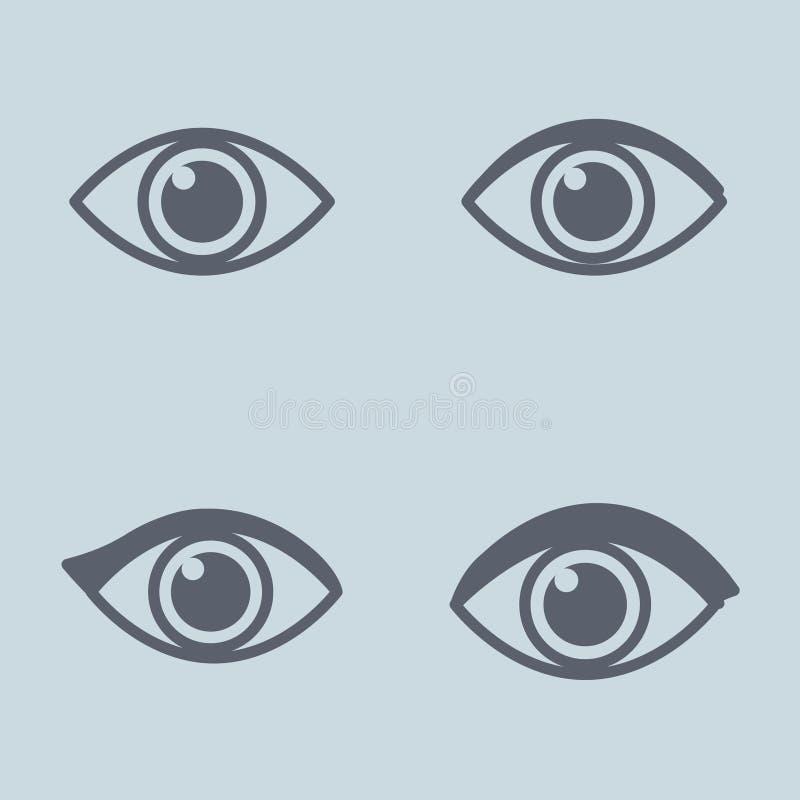 Lineair oogpictogram Concept mening Vector stock illustratie
