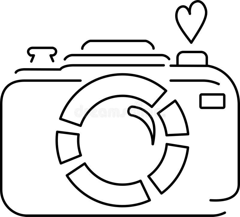 Lineair pictogram van de camera royalty-vrije illustratie