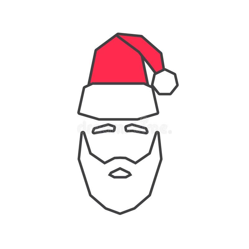 Lineair silhouet van Santa Claus vector illustratie