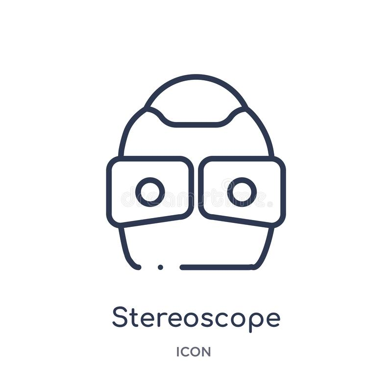 Lineair stereoscooppictogram van de inzameling van het Kunstmatige intelligentieoverzicht De dunne die vector van de lijnstereosc vector illustratie