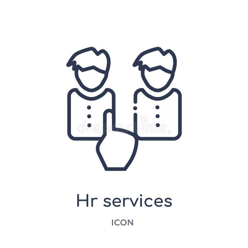 Lineair u-de dienstenpictogram van Algemene overzichtsinzameling Het dunne die pictogram van de lijnu diensten op witte achtergro stock illustratie