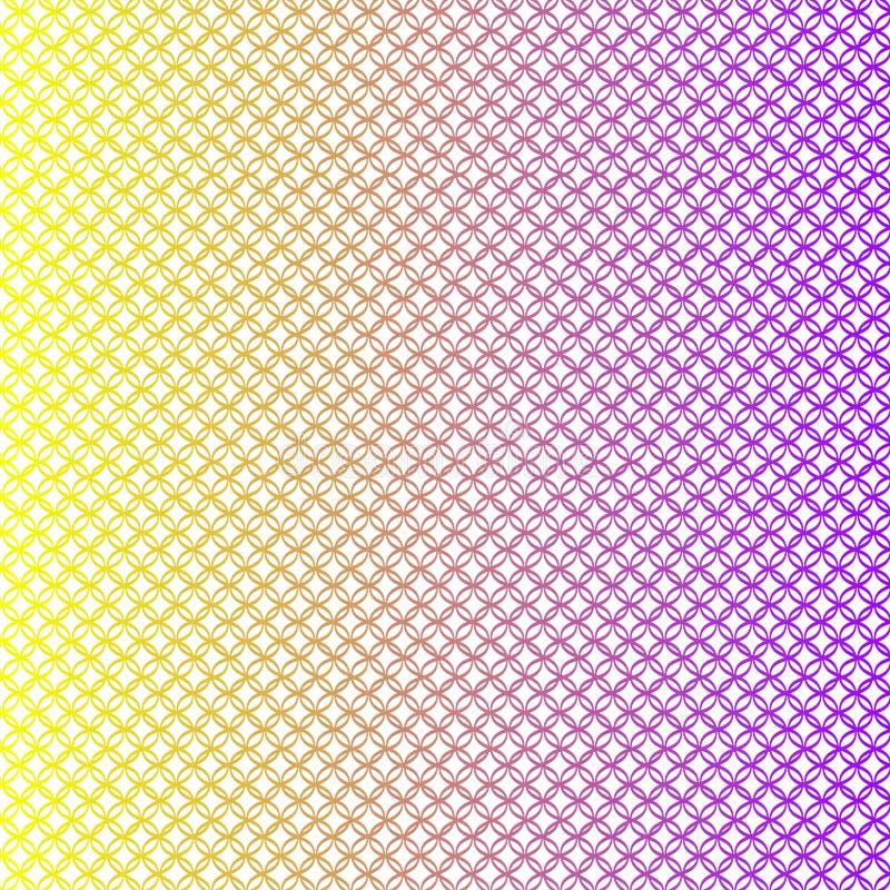 Lineaire gele en purpere digitale textuur stock illustratie