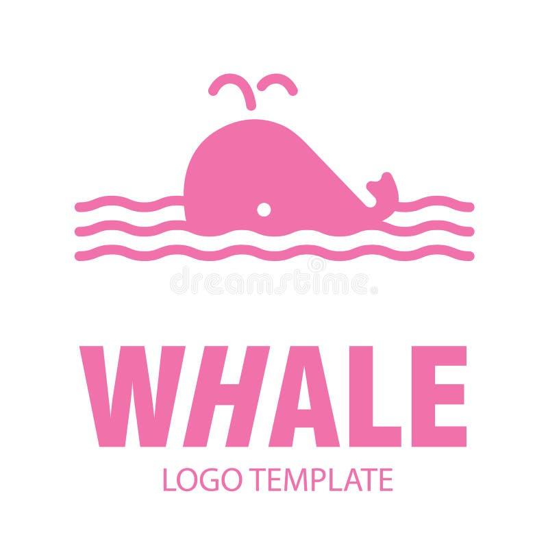 Lineaire gestileerde tekening van walvis royalty-vrije illustratie