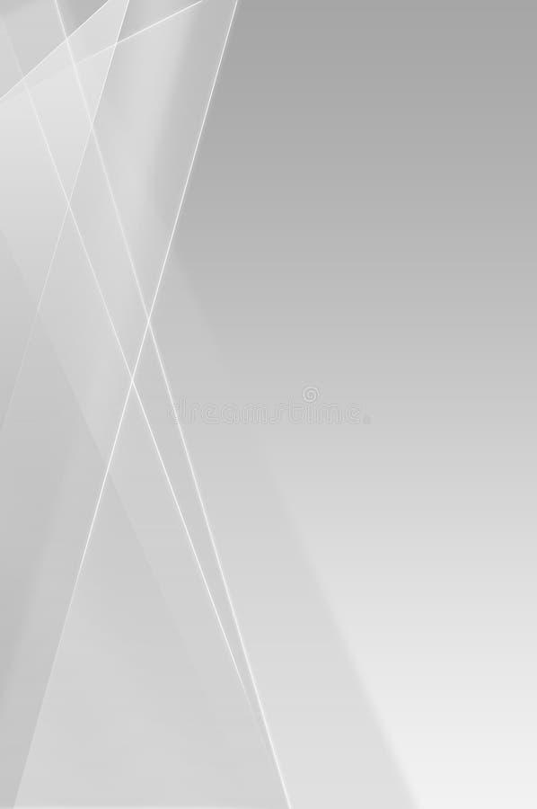 Lineaire grijze abstracte achtergrond stock illustratie