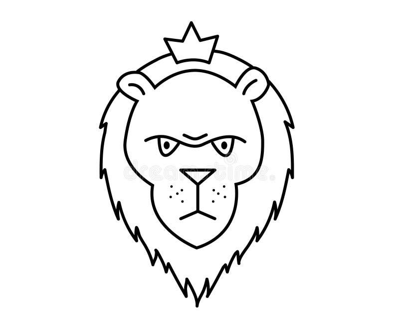 Lineaire illustratie van een leeuw royalty-vrije illustratie