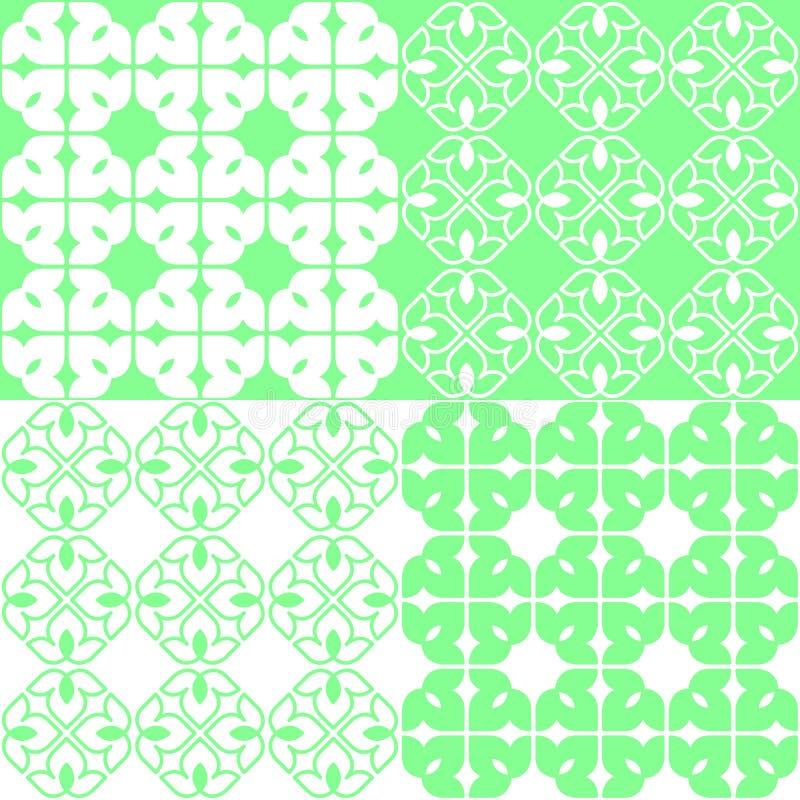 Lineaire Indische Lotus Pattern stock illustratie