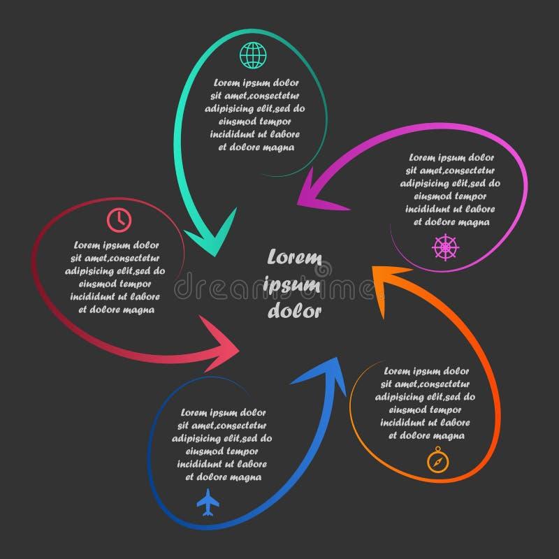 Lineaire infographics vector illustratie