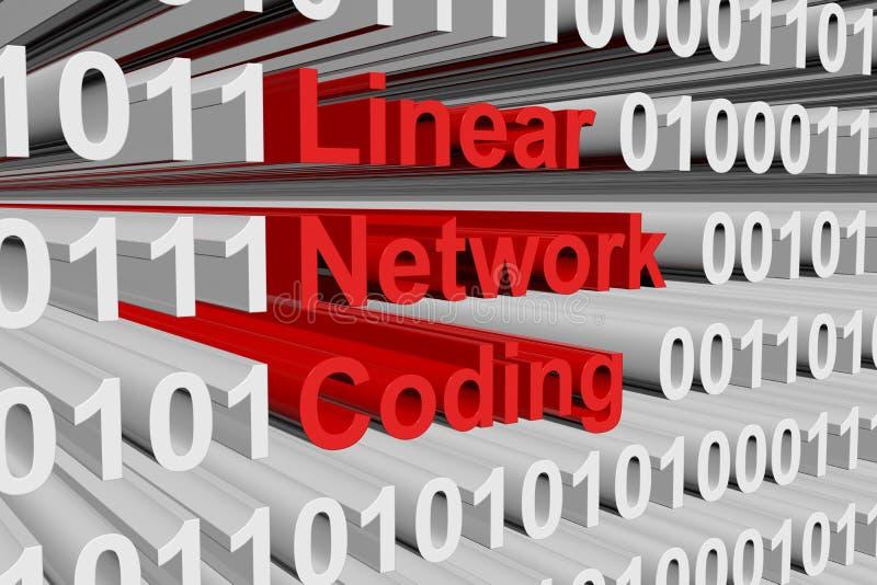 Lineaire netwerkcodage stock illustratie