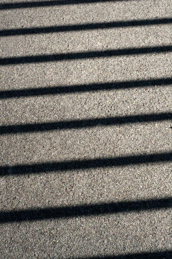 Lineaire Schaduwen. stock fotografie