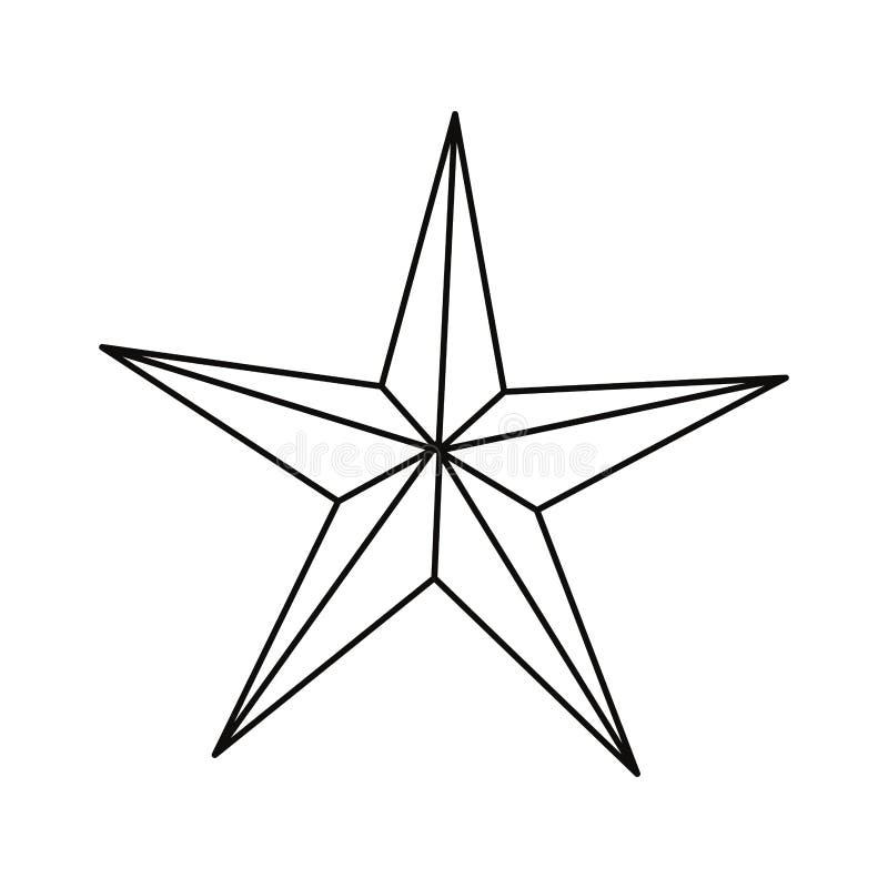 Lineaire stertoekenning royalty-vrije illustratie