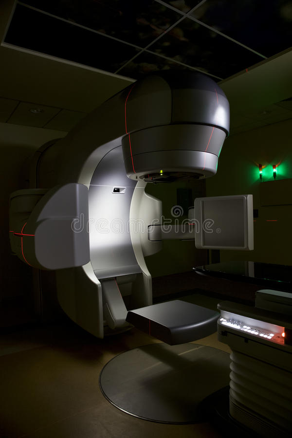Lineaire versneller x-ray machine royalty-vrije stock foto