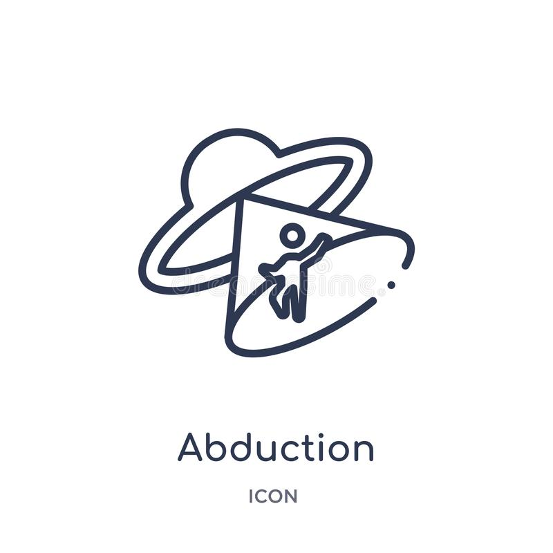 Linear abduction icon from Astronomy outline collection. Thin line abduction vector isolated on white background. abduction trendy stock illustration