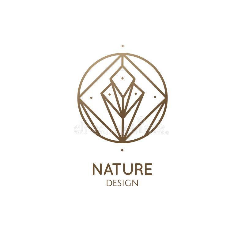 Butterfly Jewelry Logo Linear Vector Icon: Circle Shape Logo Design Abstract Linear Outline Luxury