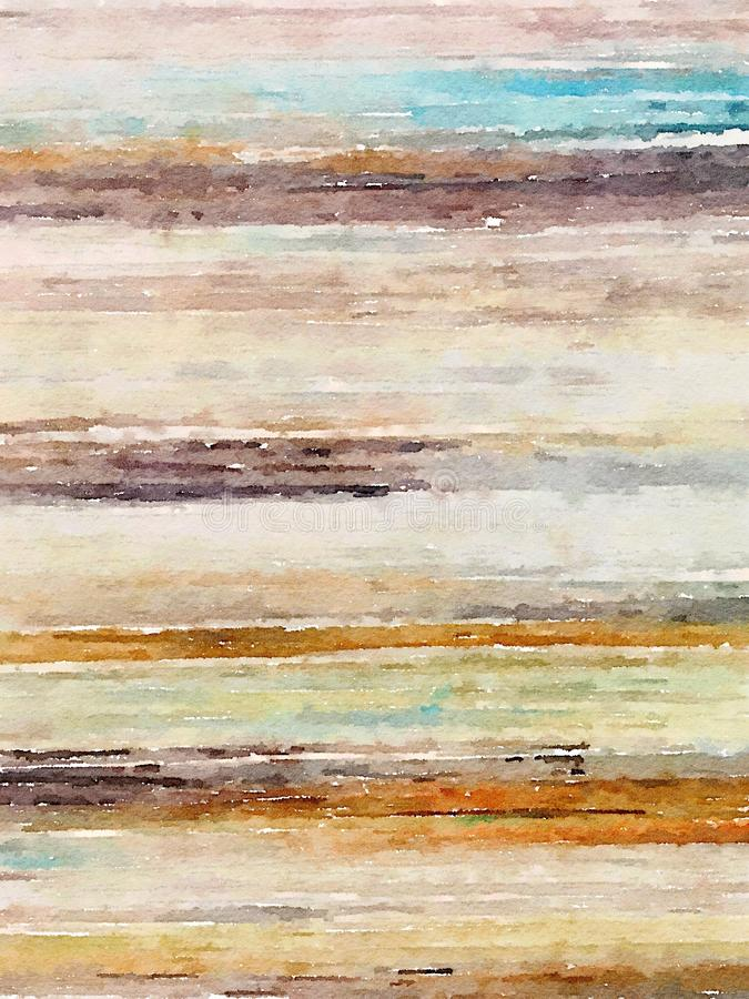 Linear abstract watercolor minimalist wall art. In earthy colors stock images