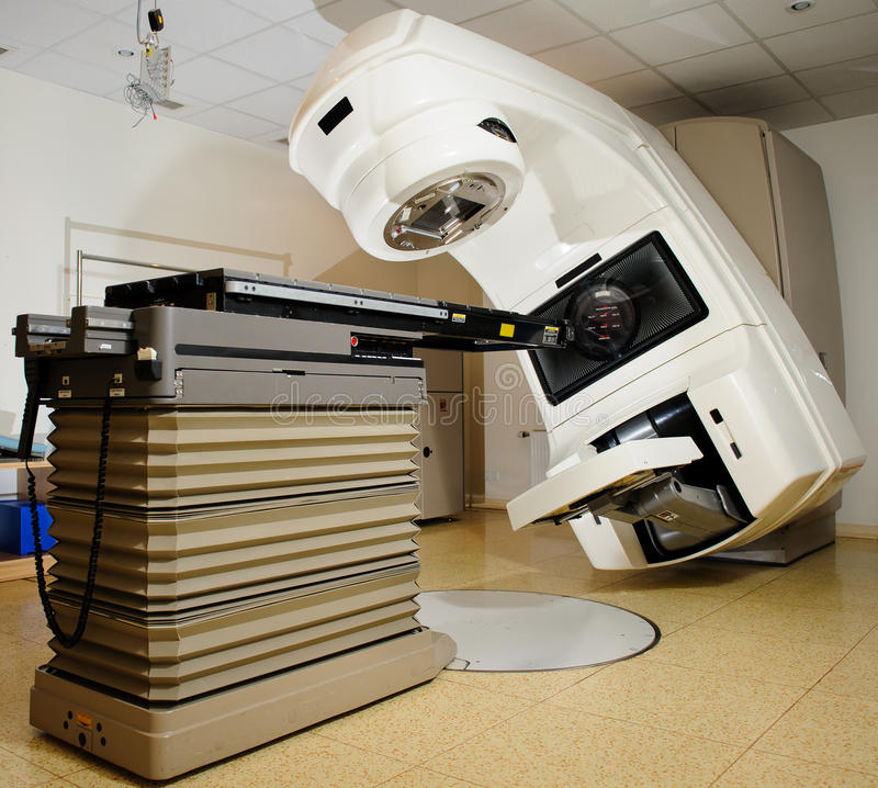 Linear Accelerator at hospital. Linear accelerators are the newest radiation technology available today royalty free stock photo