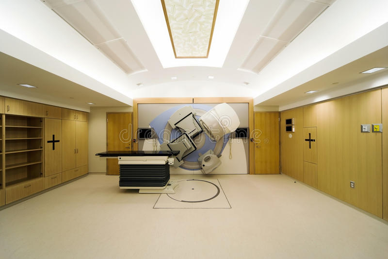 Linear Accelerator. In a new Oncology Treatment room royalty free stock photography