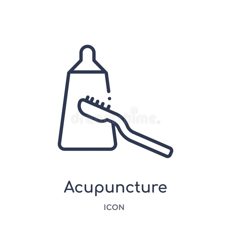 Linear acupuncture icon from Beauty outline collection. Thin line acupuncture icon isolated on white background. acupuncture vector illustration
