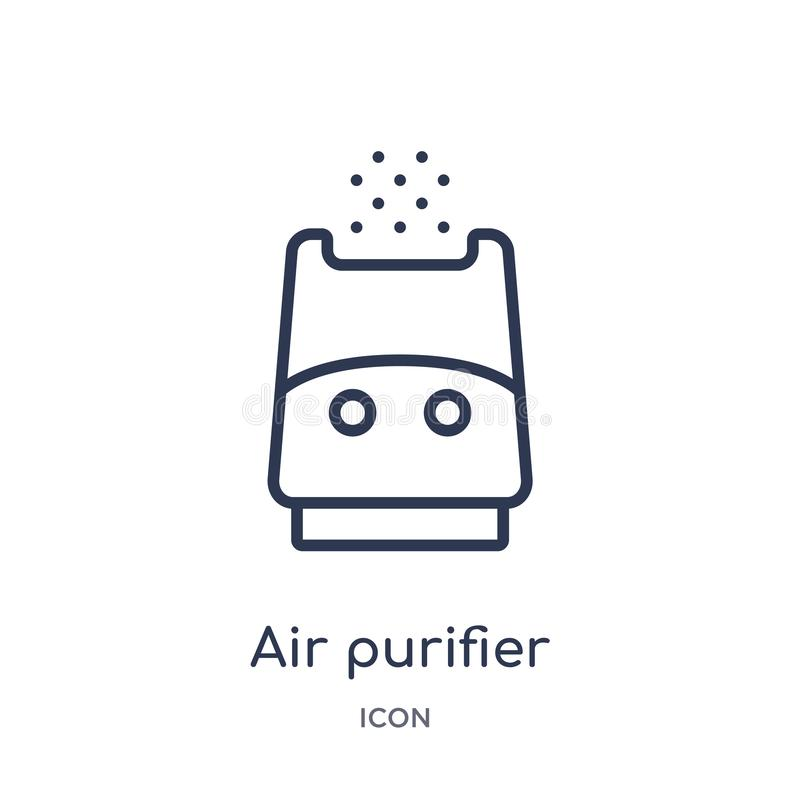 Linear air purifier icon from Electronic devices outline collection. Thin line air purifier vector isolated on white background. Air purifier trendy royalty free illustration