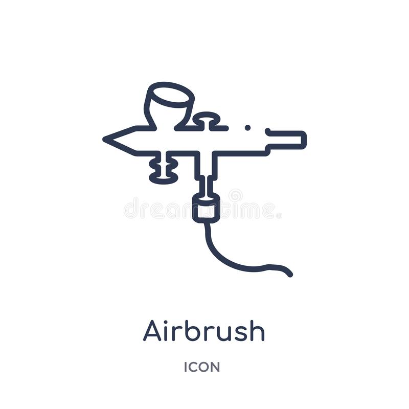 Linear airbrush icon from Edit outline collection. Thin line airbrush vector isolated on white background. airbrush trendy. Illustration vector illustration