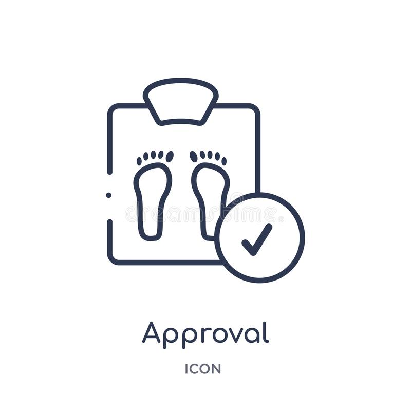 Linear approval icon from Medical outline collection. Thin line approval icon isolated on white background. approval trendy stock illustration