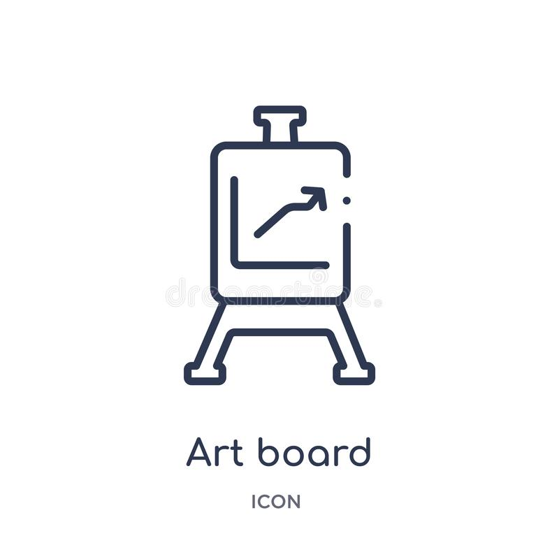 Linear art board icon from Edit outline collection. Thin line art board vector isolated on white background. art board trendy vector illustration