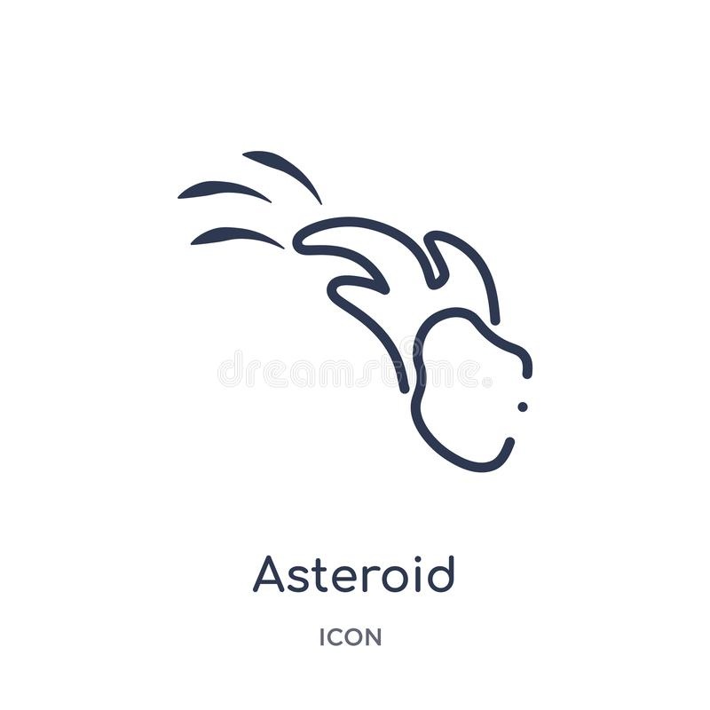 Linear asteroid icon from Astronomy outline collection. Thin line asteroid vector isolated on white background. asteroid trendy stock illustration