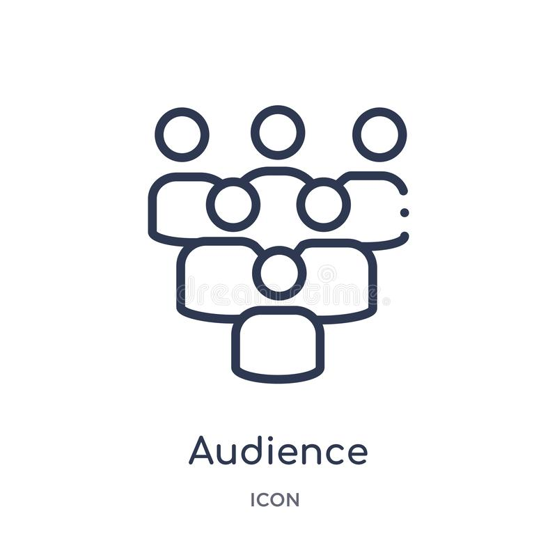 Linear audience icon from Hockey outline collection. Thin line audience icon isolated on white background. audience trendy vector illustration