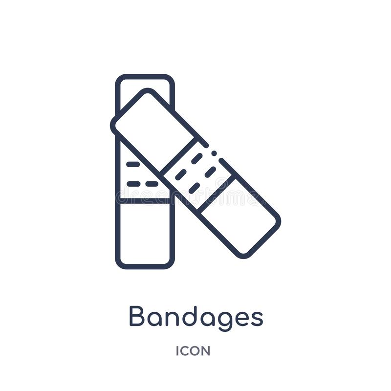 Linear bandages icon from Fashion outline collection. Thin line bandages icon isolated on white background. bandages trendy. Illustration vector illustration