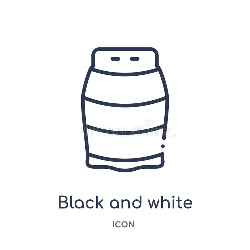 Linear black and white icon from Fashion outline collection. Thin line black and white icon isolated on white background. black royalty free illustration
