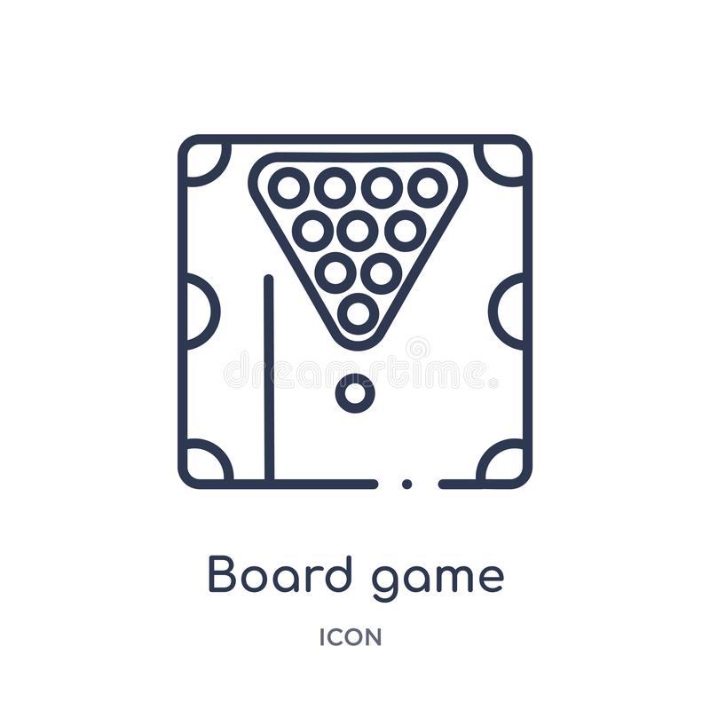 Linear board game icon from Entertainment and arcade outline collection. Thin line board game vector isolated on white background vector illustration