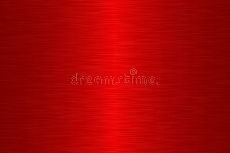 Linear brush metal - Red vector illustration