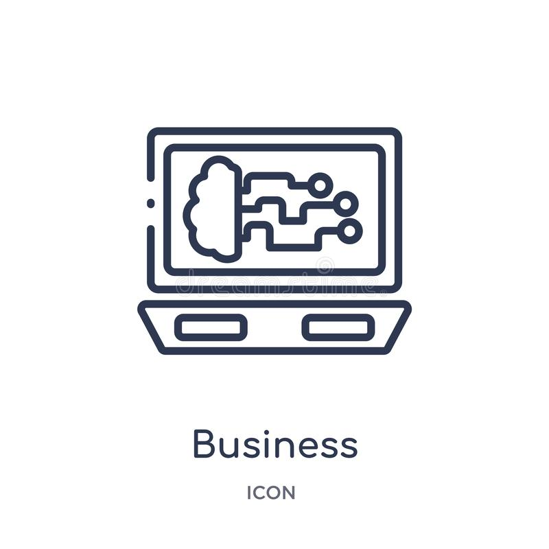 Linear business icon from Artificial intellegence and future technology outline collection. Thin line business vector isolated on. White background. business stock illustration