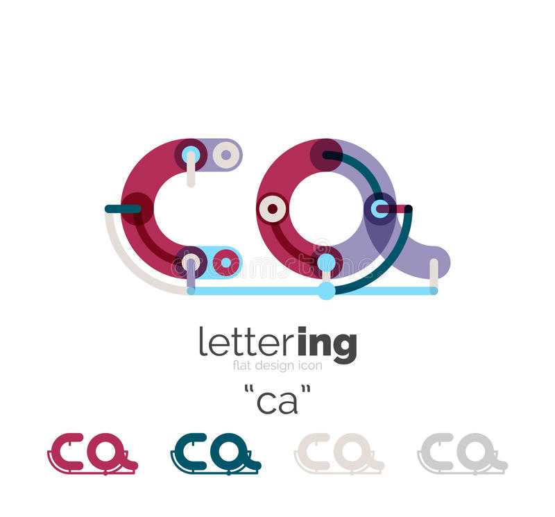 Linear business logo letter royalty free illustration