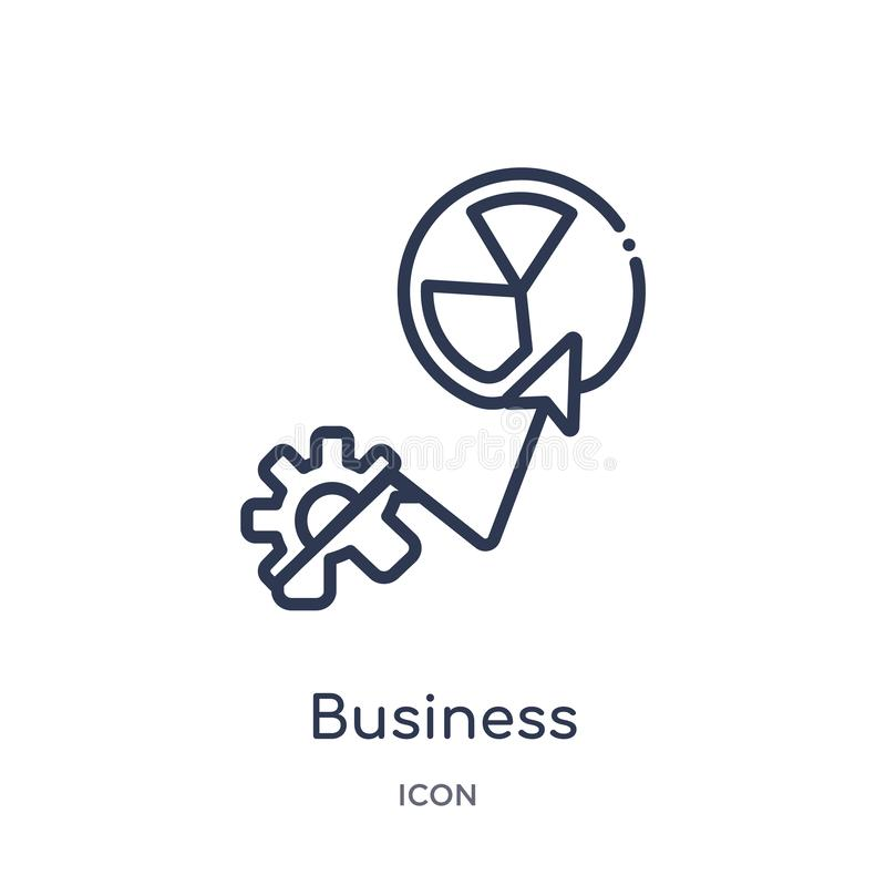 Linear business performance icon from General outline collection. Thin line business performance icon isolated on white background vector illustration