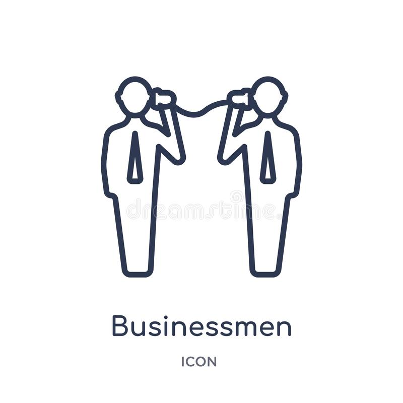 Linear businessmen business communication techniques icon from Business outline collection. Thin line businessmen business vector illustration