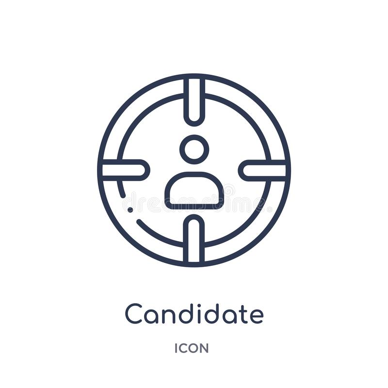 Linear candidate icon from Human resources outline collection. Thin line candidate icon isolated on white background. candidate vector illustration
