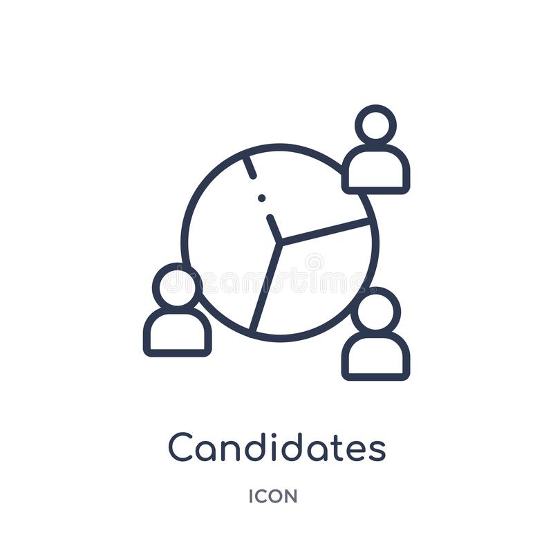 Linear candidates icon from Human resources outline collection. Thin line candidates icon isolated on white background. candidates vector illustration