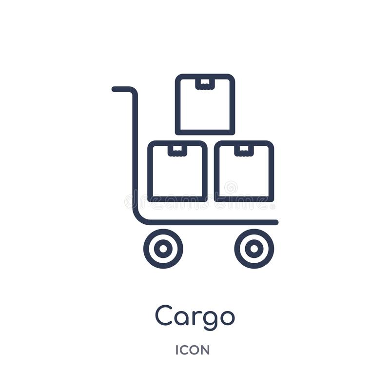 Linear cargo icon from Delivery and logistic outline collection. Thin line cargo vector isolated on white background. cargo trendy vector illustration