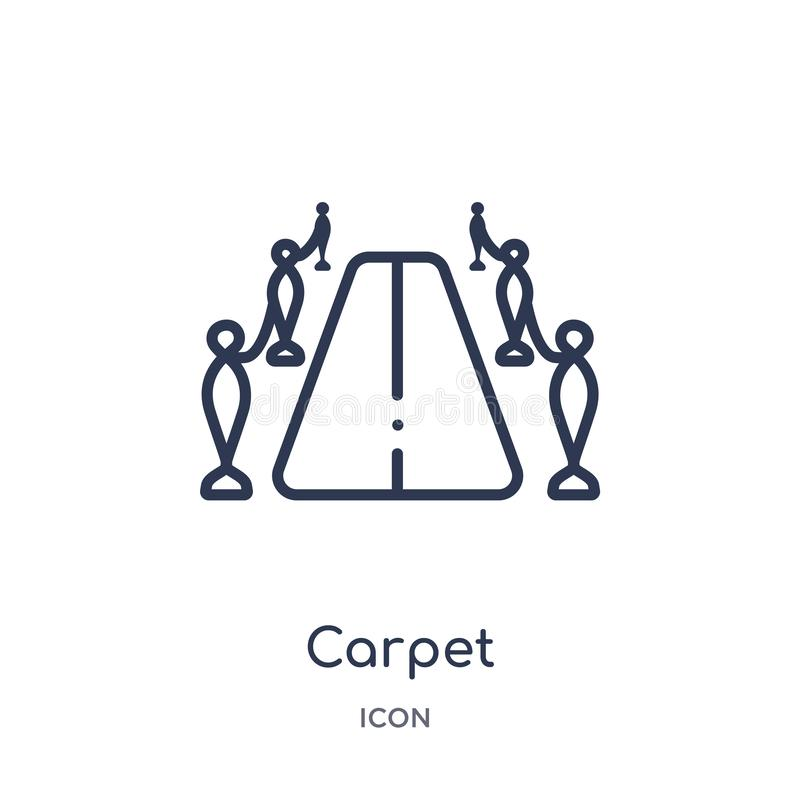 Linear carpet icon from Cinema outline collection. Thin line carpet vector isolated on white background. carpet trendy royalty free illustration