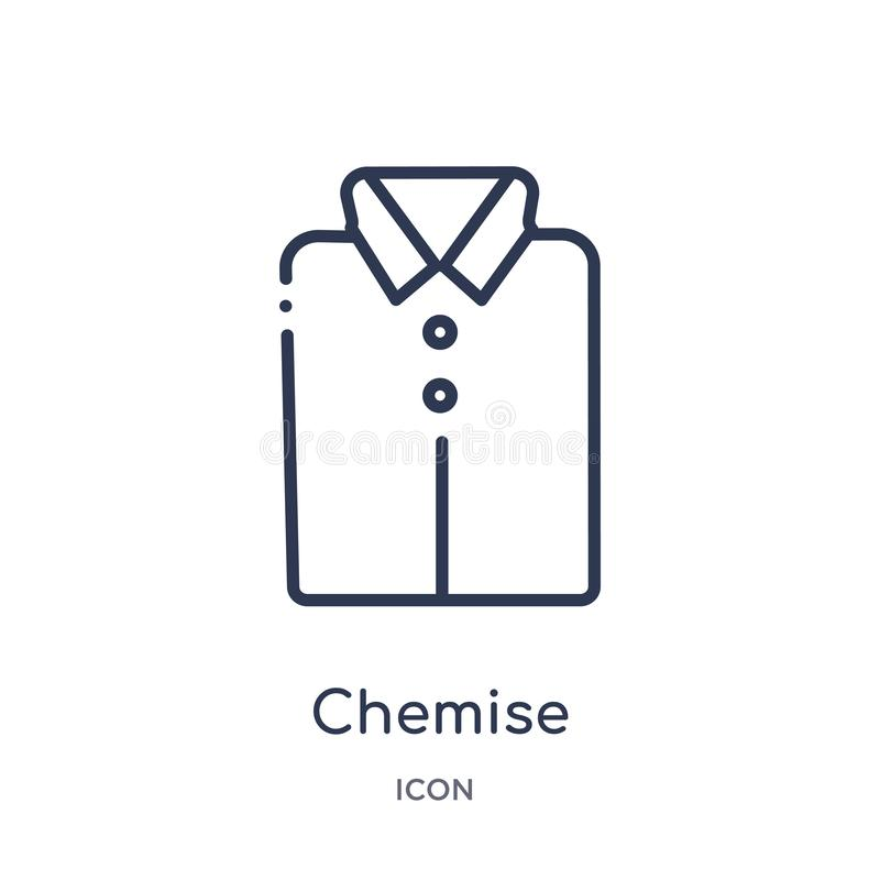 Linear chemise icon from Clothes outline collection. Thin line chemise vector isolated on white background. chemise trendy stock illustration