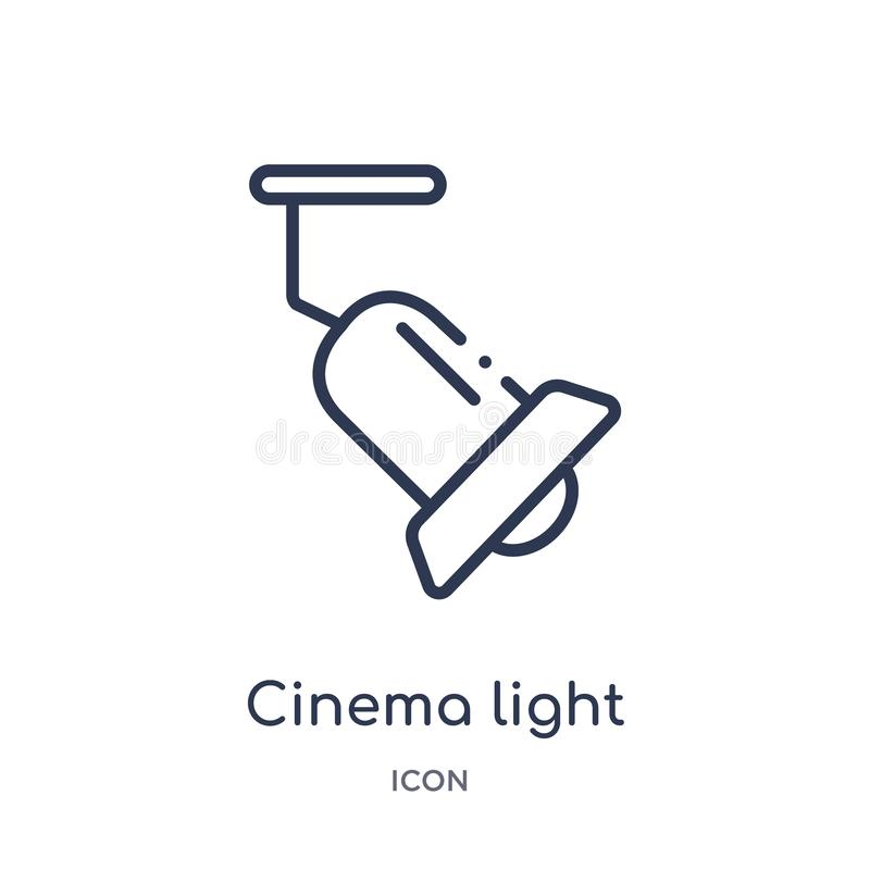 Linear cinema light source icon from Cinema outline collection. Thin line cinema light source vector isolated on white background stock illustration
