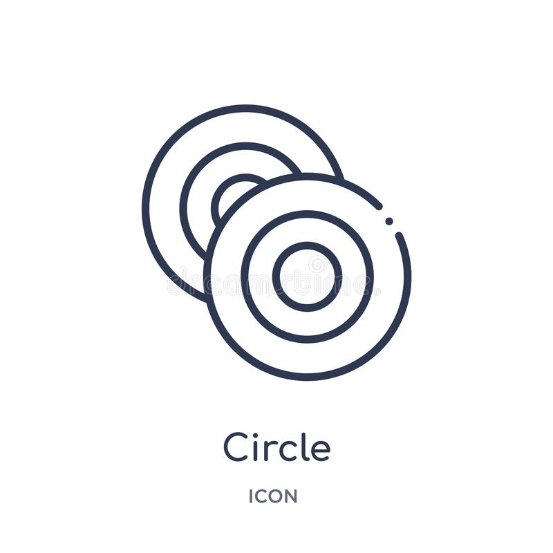 Linear circle icon from Cursor outline collection. Thin line circle vector isolated on white background. circle trendy vector illustration