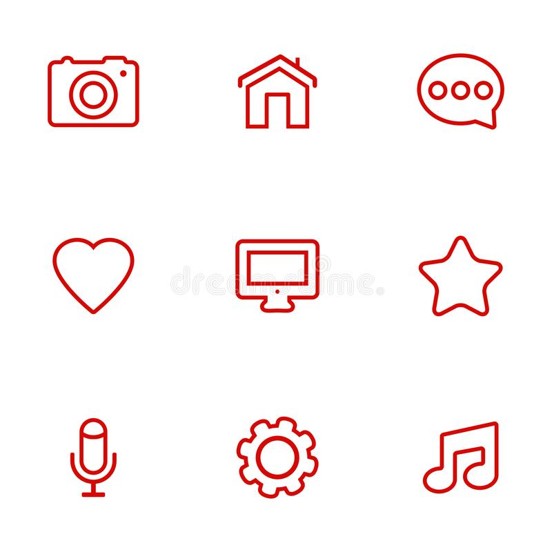 Linear communication icons set. Universal communication icons to use in web and mobile vector illustration