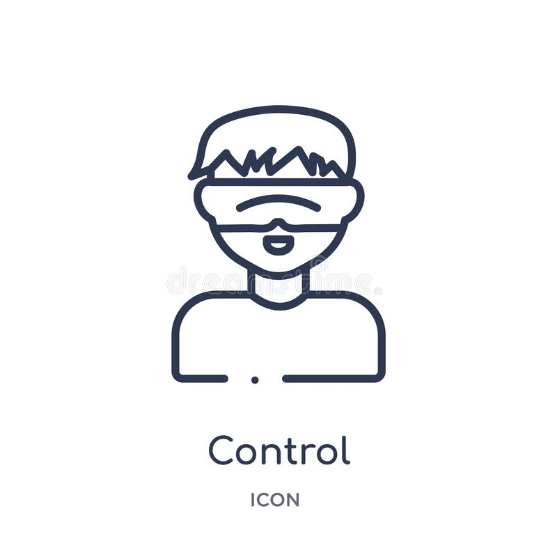 Linear control icon from Artifical intelligence outline collection. Thin line control vector isolated on white background. control stock illustration