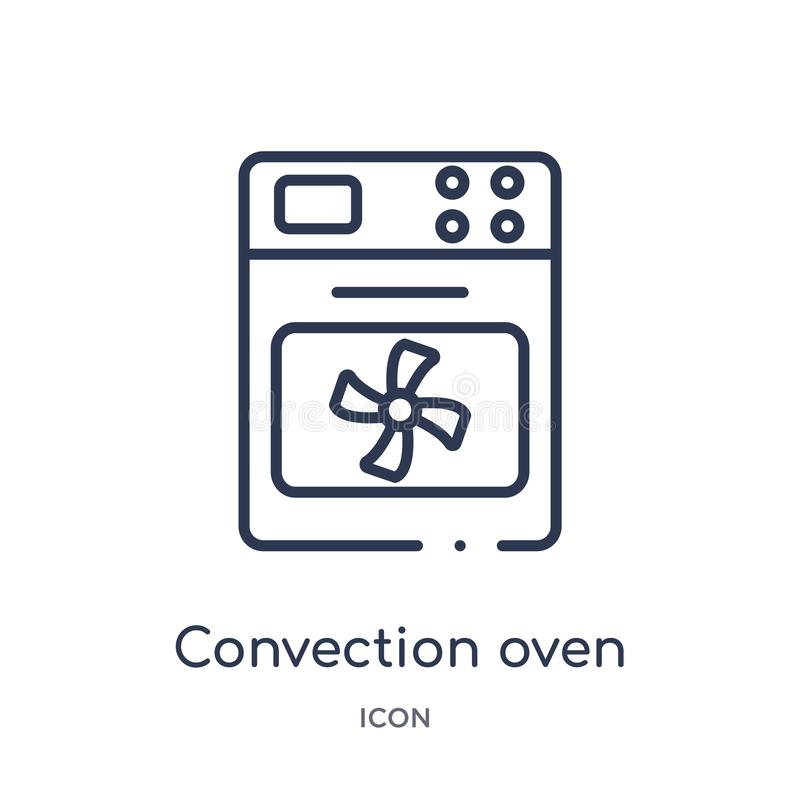 Linear convection oven icon from Electronic devices outline collection. Thin line convection oven vector isolated on white vector illustration