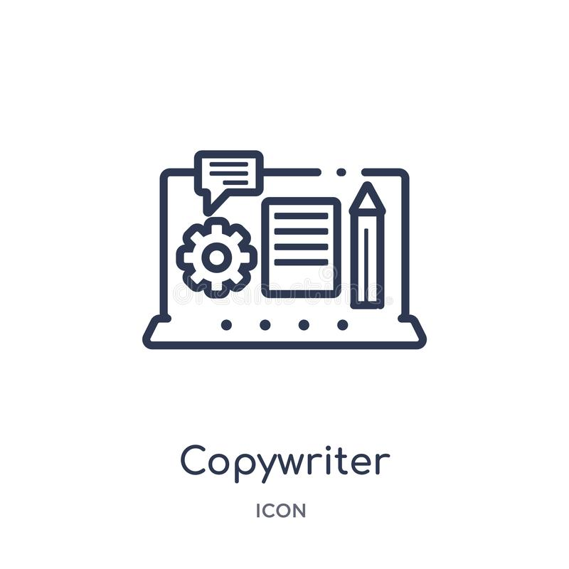 Linear copywriter icon from Blogger and influencer outline collection. Thin line copywriter vector isolated on white background. vector illustration