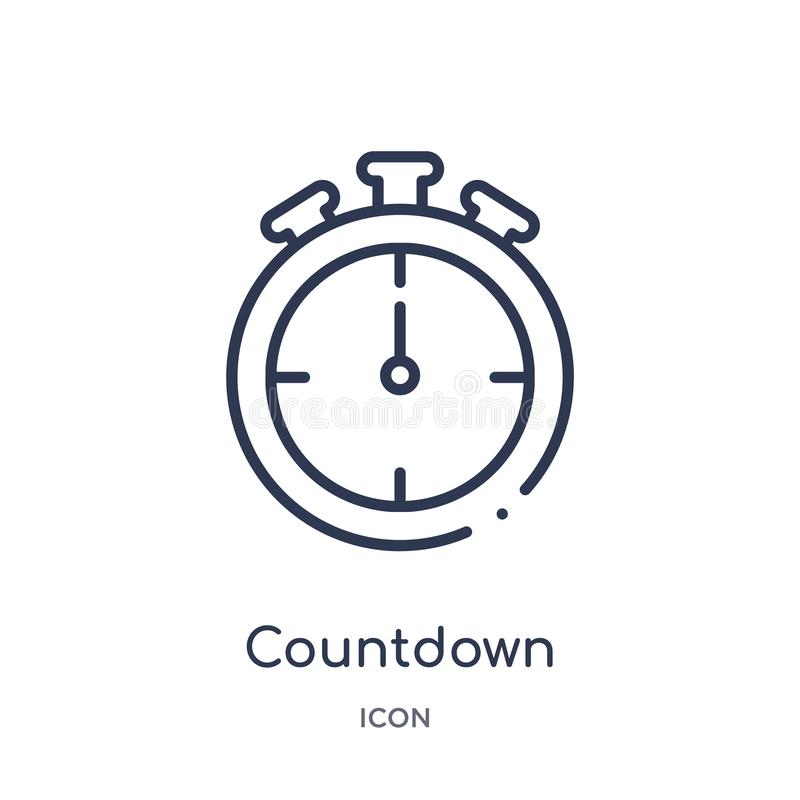 Linear countdown icon from Electronic devices outline collection. Thin line countdown vector isolated on white background. vector illustration