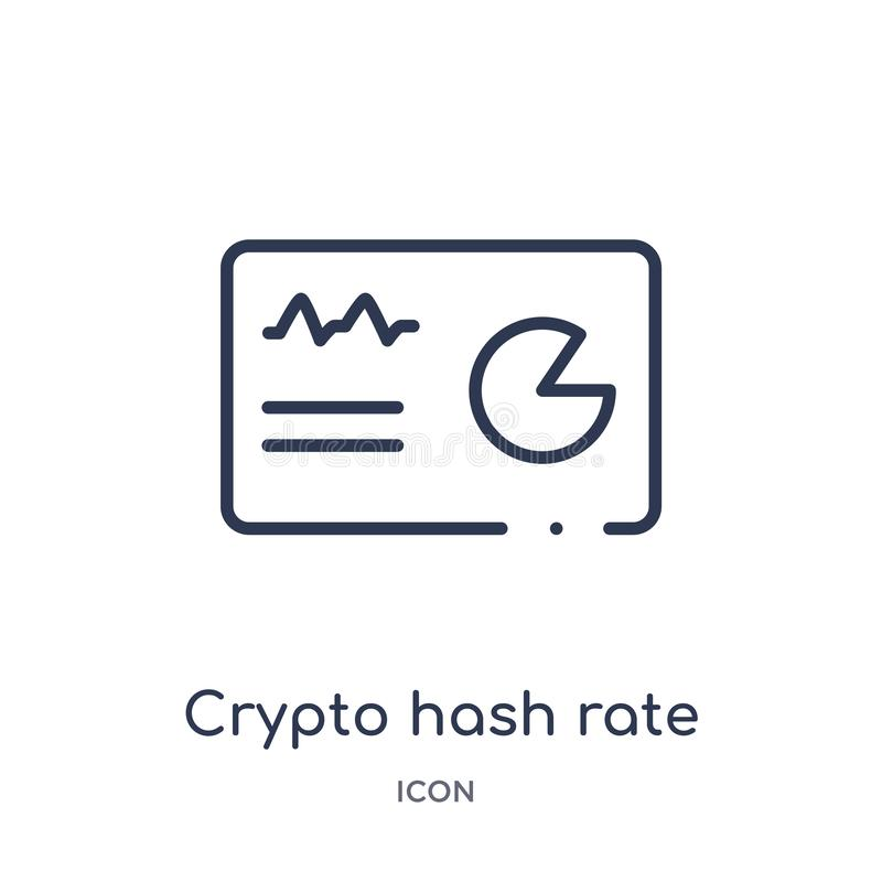 Linear crypto hash rate icon from Cryptocurrency economy and finance outline collection. Thin line crypto hash rate vector stock illustration