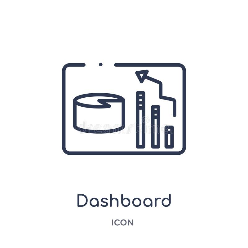 Linear dashboard icon from Customer service outline collection. Thin line dashboard vector isolated on white background. dashboard royalty free illustration